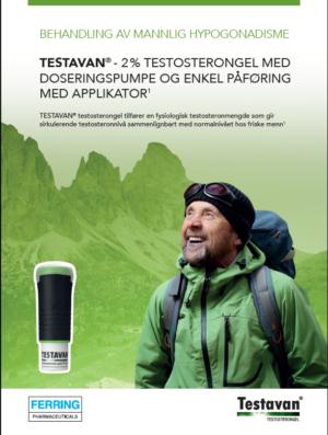 Produktbrosjyre til helsepersonell, Testavan®