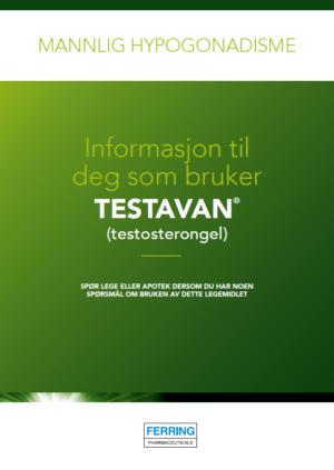 Pasientbrosjyre, Testavan®