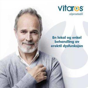 Informasjon om bruk av Vitaros® (alprostadil)